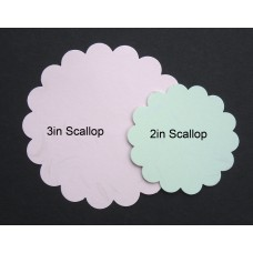 Gift Tag / Thank you Card printing: Round Scallop 2in