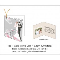 Gift Tag / Thank you Card printing with Fold: 4.5cm(w) x 5.4 cm (h)