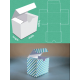 Custom /  Personalized Gift Box Packaging - Square Rectangle Box - 7cm (W) x 7cm (H) x 6cm (L)