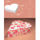 Custom /  Personalized Gift Box Packaging - Heart Shape 6cm (W) x  7cm (H) x  2cm (L)