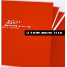 Booklet A5 : 24 pages inner only. Cover not included.