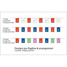 Flag line printing: 2 Design per flagline