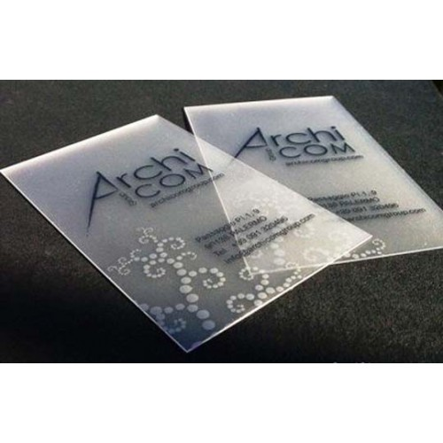 name card printing plastic frosted card - Plastic Business Card Printing