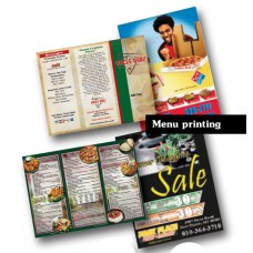 Menu printing: 260gms Art Card